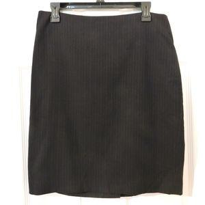 Banana Republic Navy Pinstripe Pencil Skirt - Suit